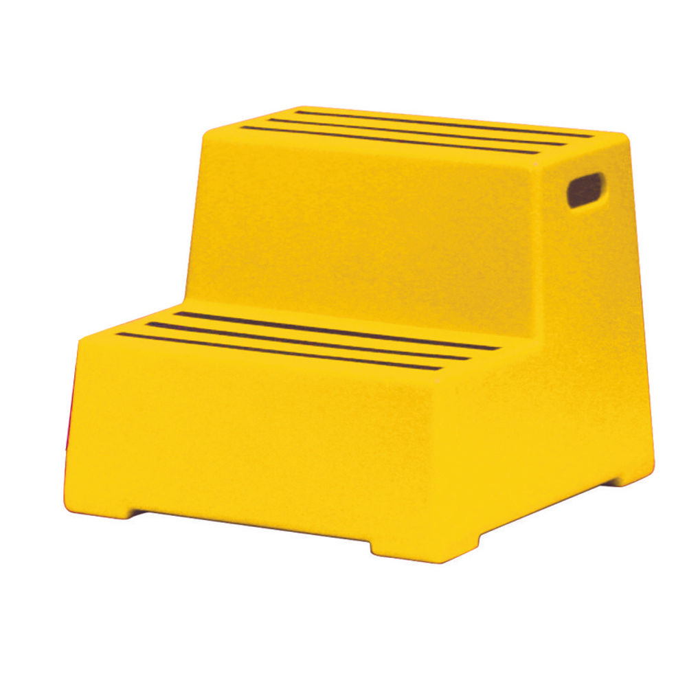 Yellow 2 Tread Plastic Safety Step - 325097