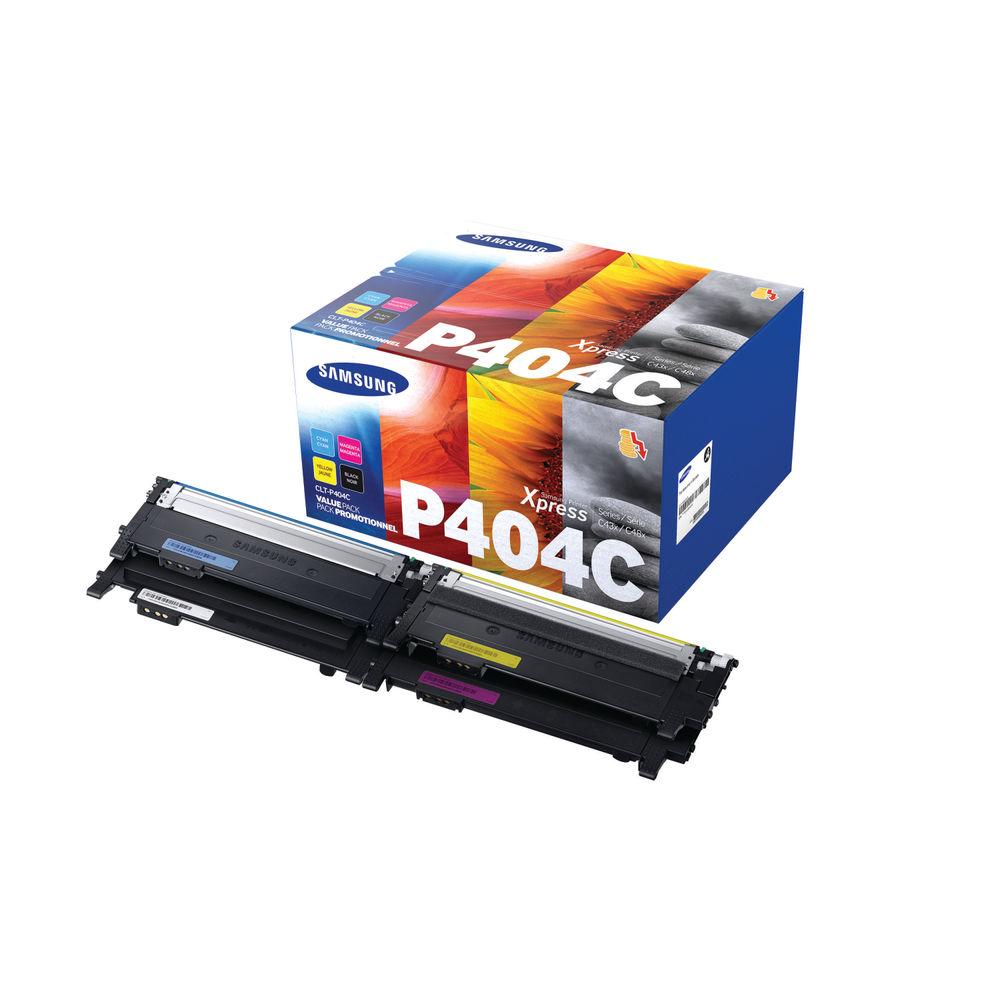 Samsung P404C Rainbow Toner Pack, Pack of 4 - CLT-P404C/ELS