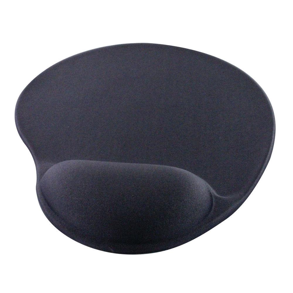 Q-Connect Black Gel Mouse Mat - KF02213