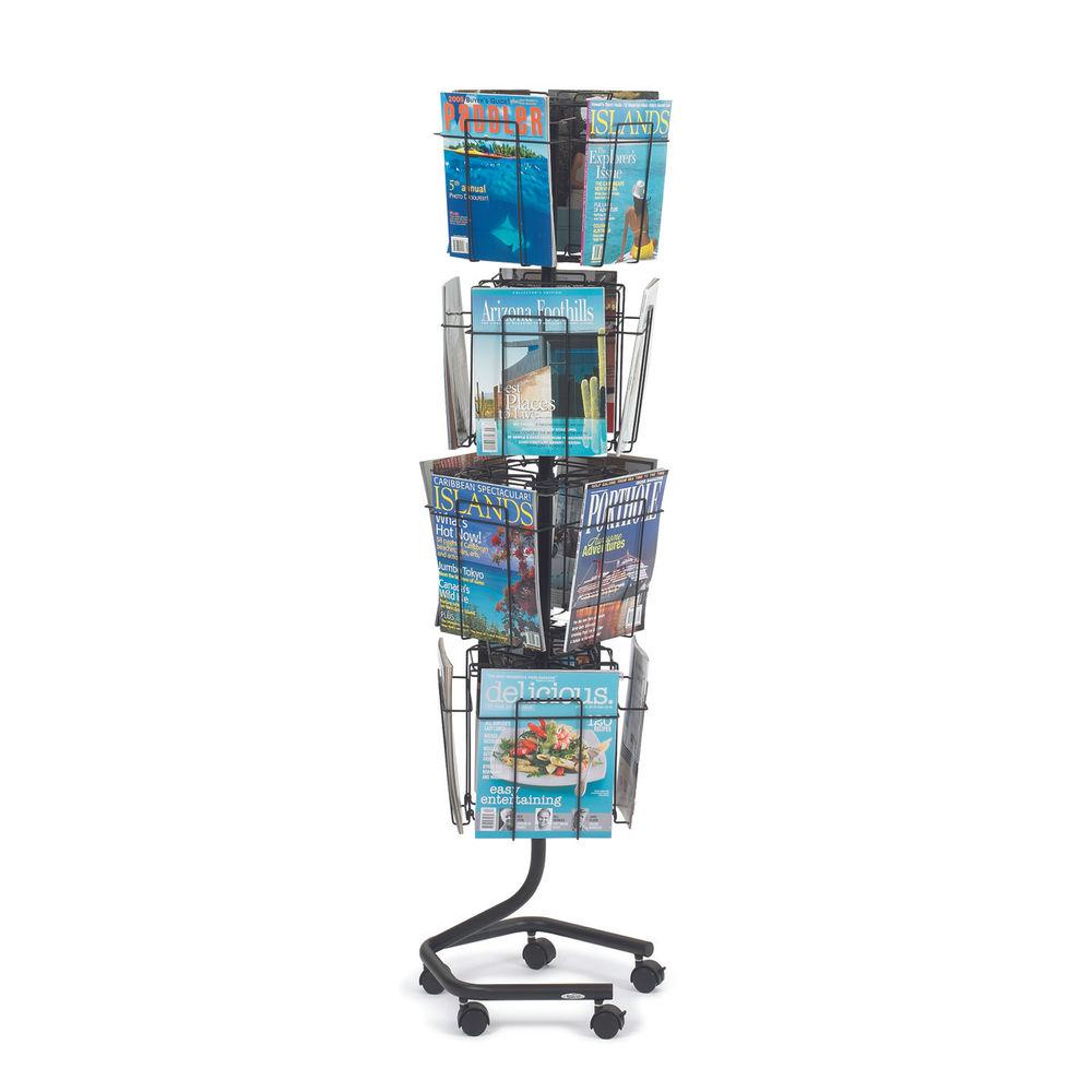 Safco Rotating Floor-Standing Display Unit 16xA4 Pocket 4139CH