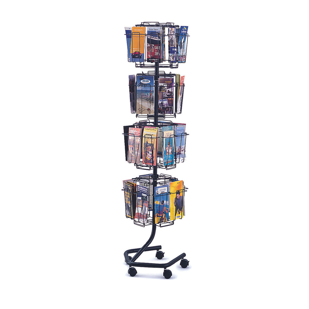 Safco 32 Compartment Rotating Wire Display Unit - 4128CH
