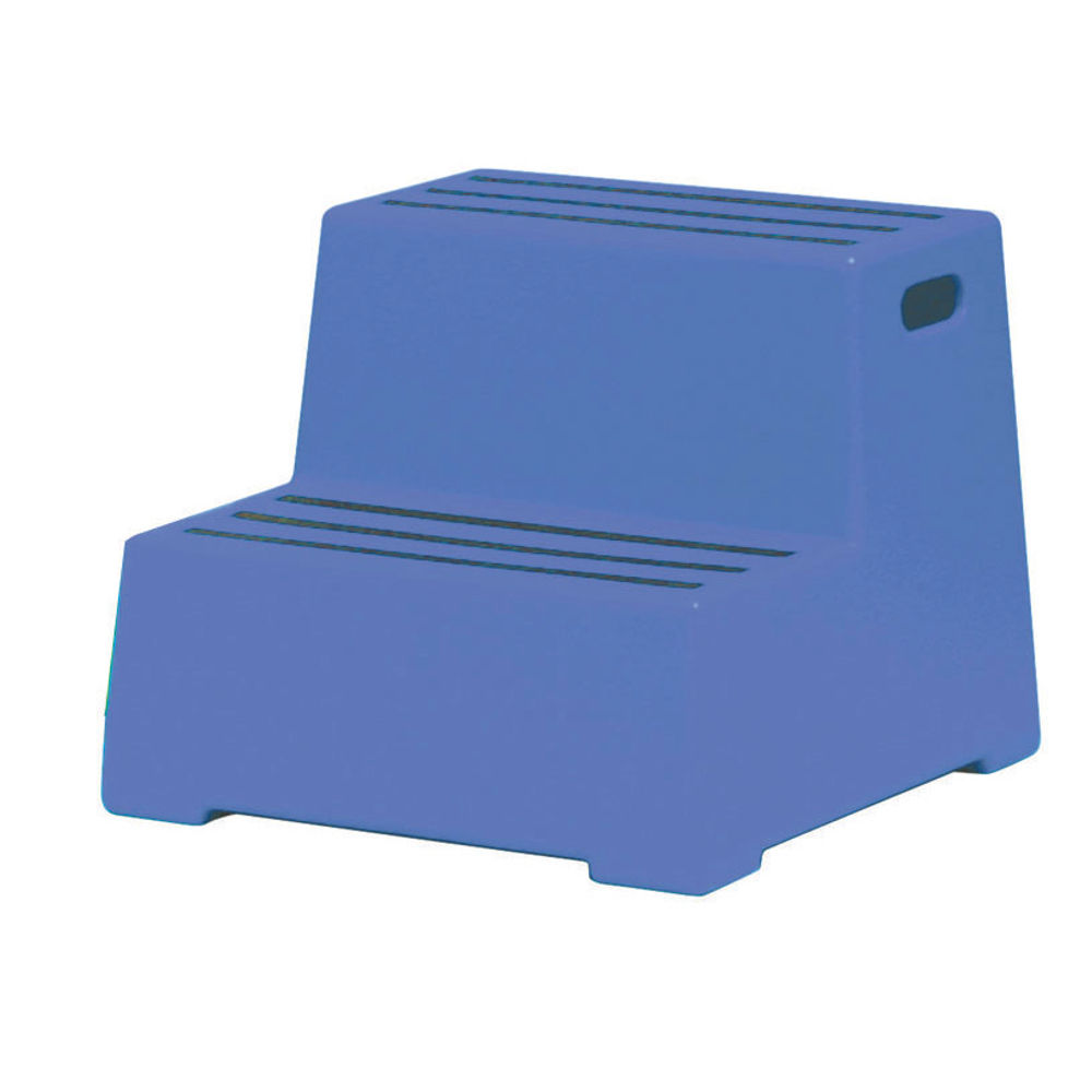 Blue 2 Tread Plastic Safety Step - 325095
