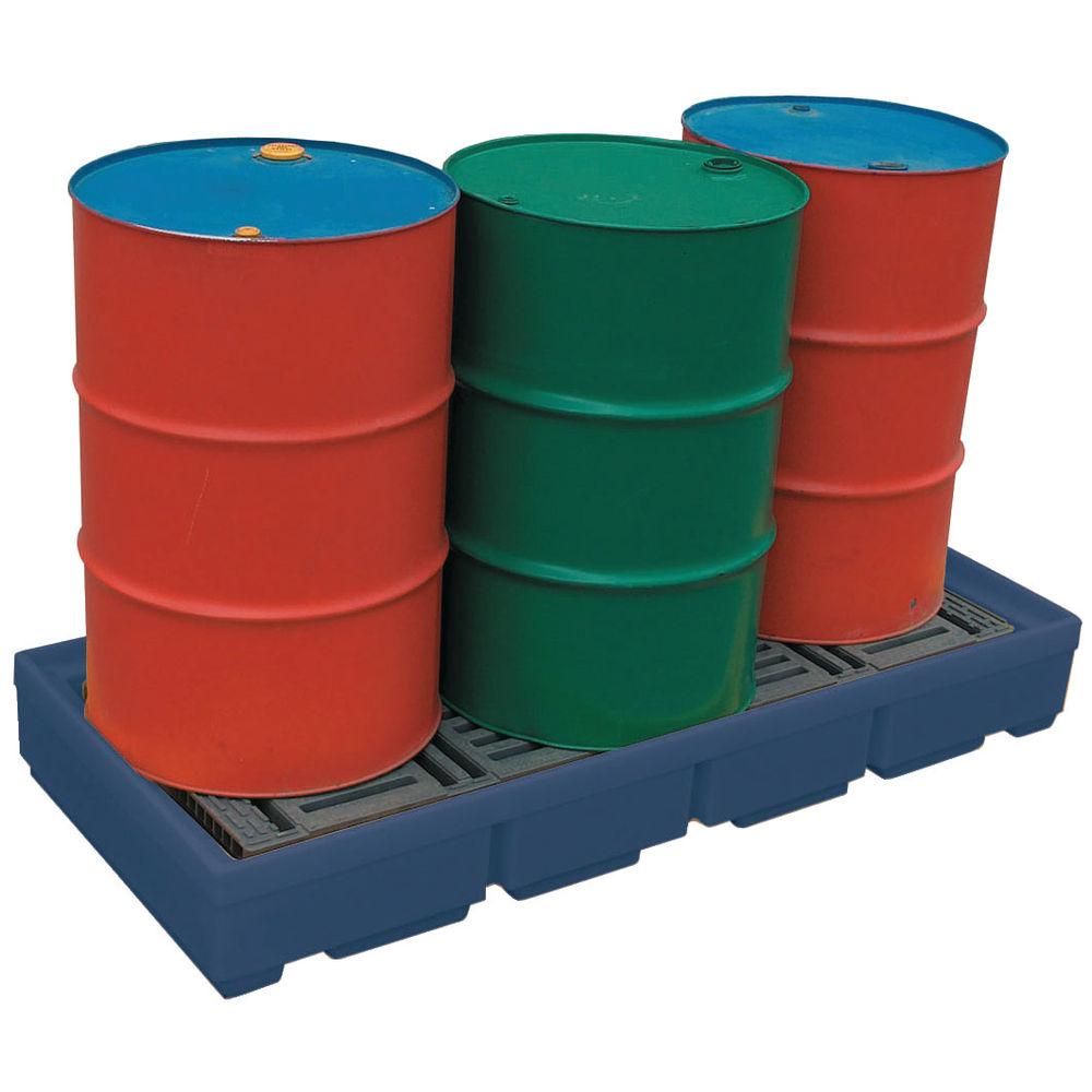 Blue 2 Drum Moulded Poly Sump Pallet  - 321622