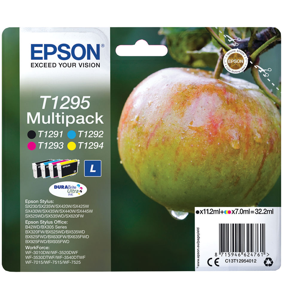 Epson T1295 Black and Colour Ink Multipack - High Capacity C13T12954012