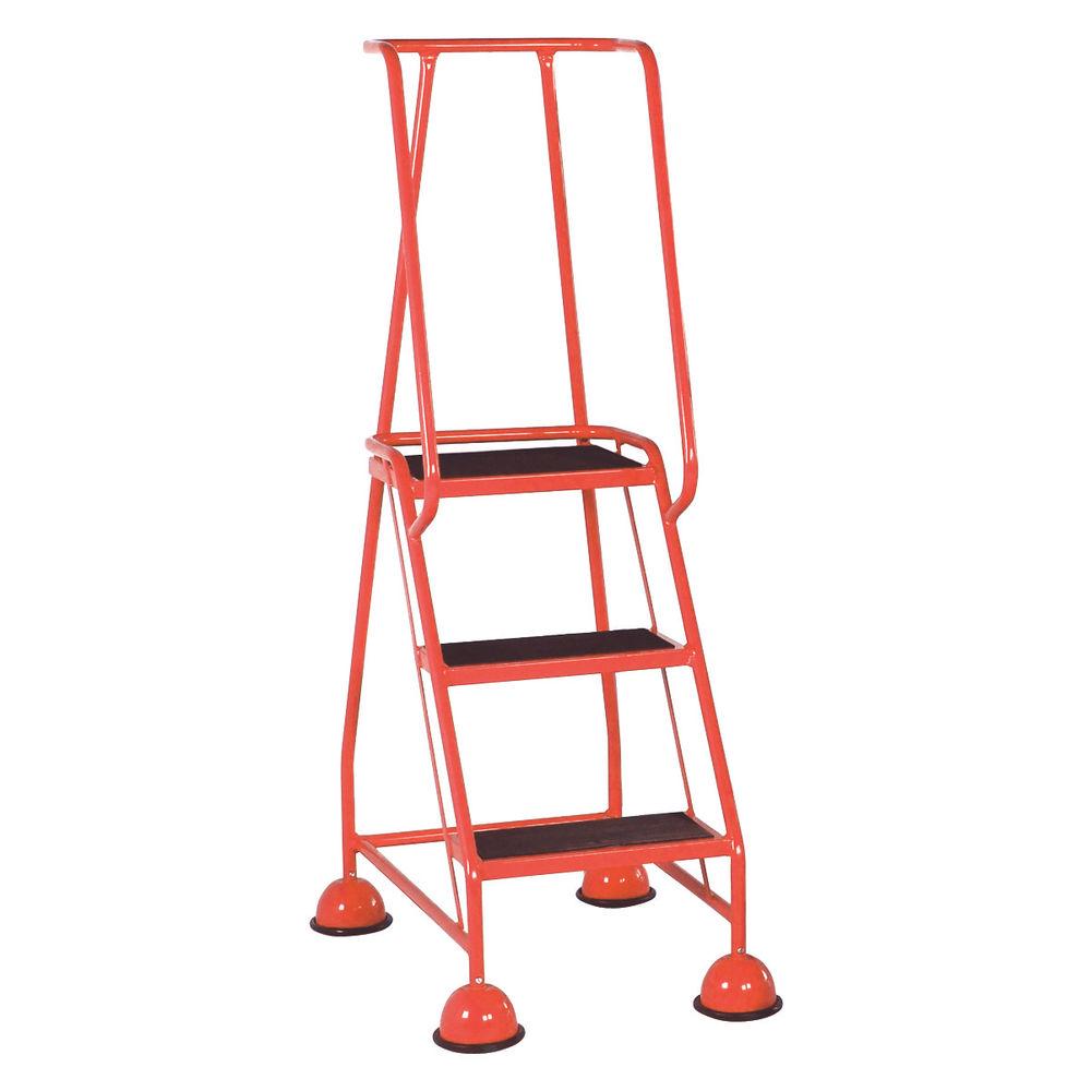 Red 3 Tread Step Ladder - 385135