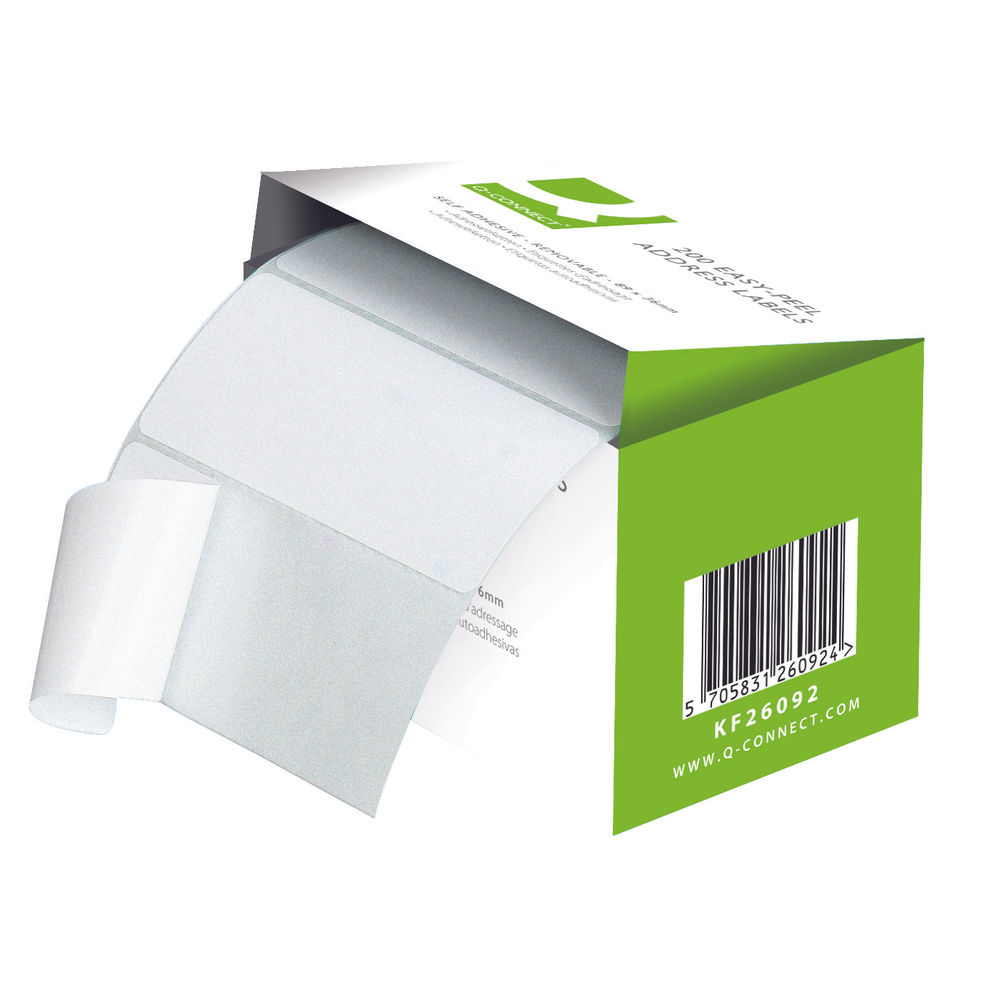 Basics Easy Peel Labels Address Labels Roll Of 200 Labels KF26092