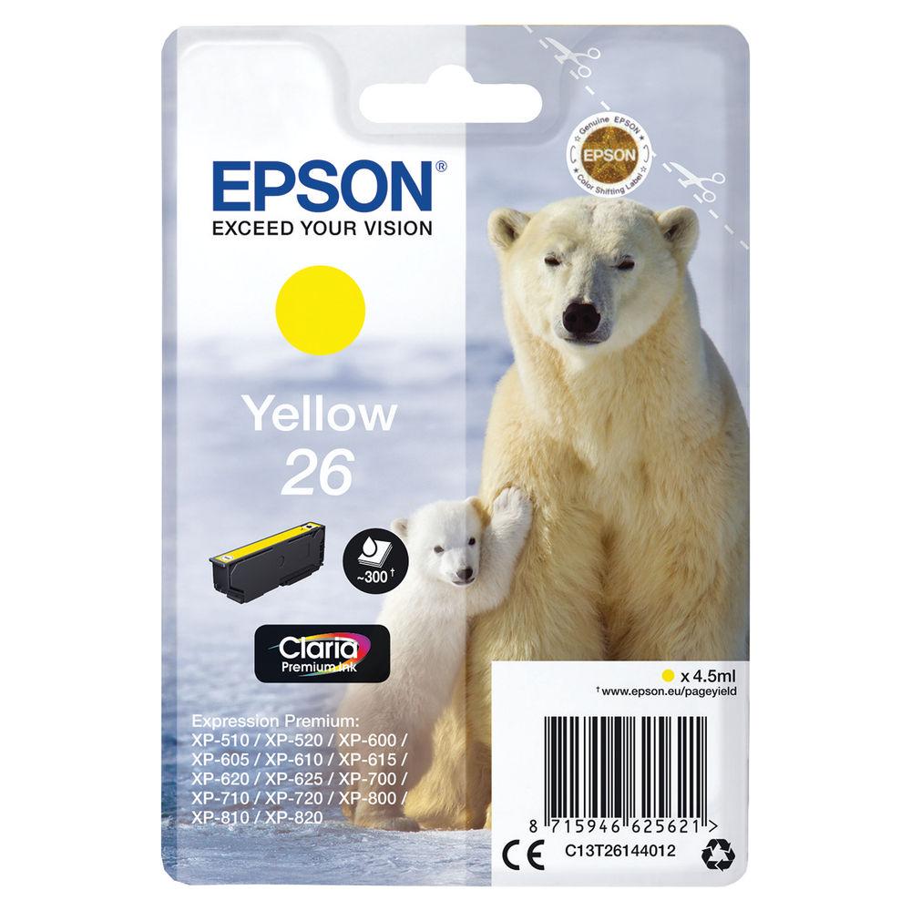 Epson 26 Yellow Ink Cartridge - C13T26144012