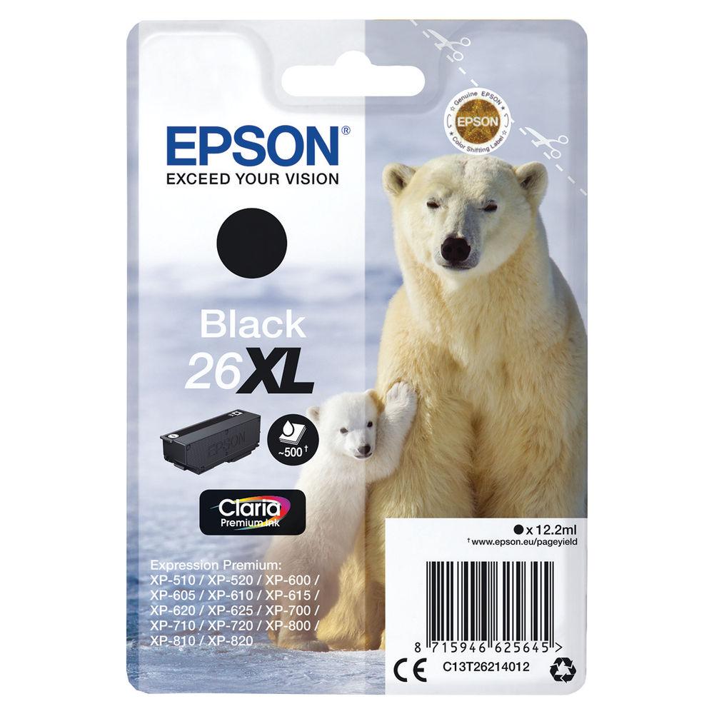Epson 26XL High Capacity Black Ink Cartridge - C13T26214012