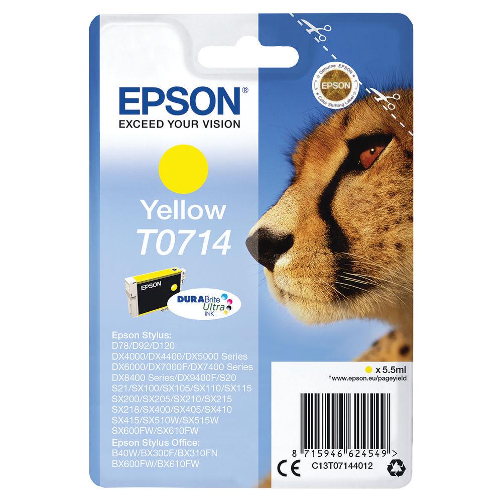 Epson T0714 Yellow Ink Cartridge - C13T07144012