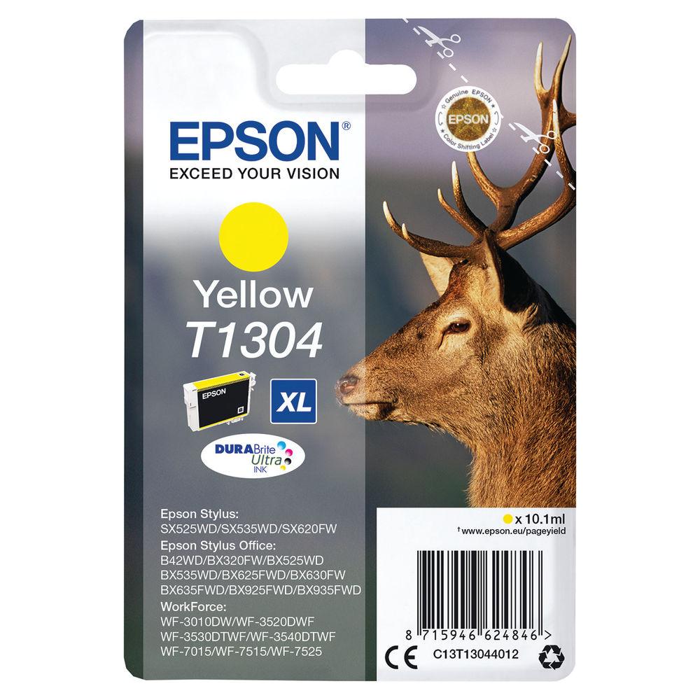 Epson T1304XL High Capacity Yellow Ink Cartridge - C13T13044012