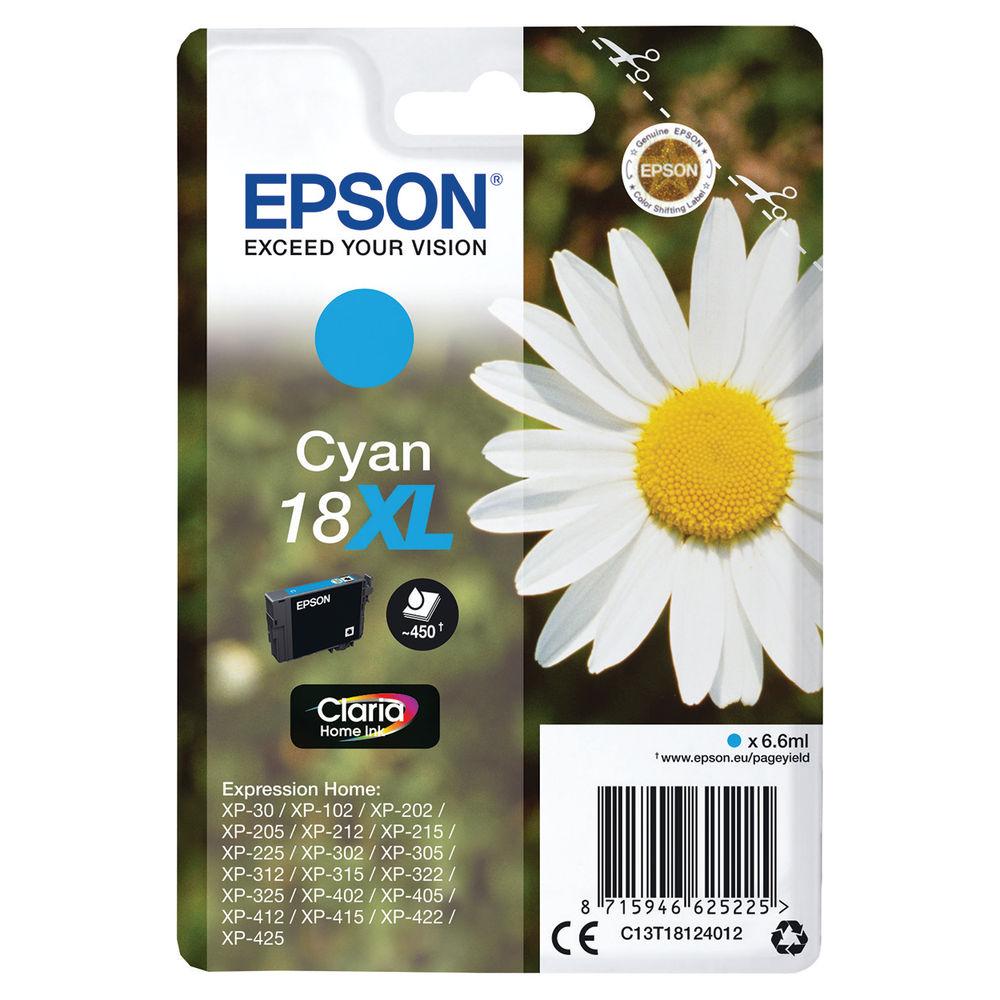 Epson 18XL Cyan Ink Cartridge - High Capacity C13T18124012