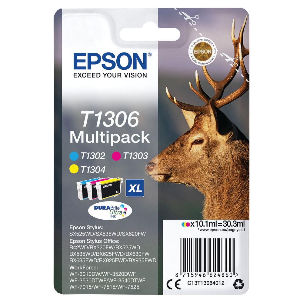 Epson T1306XL High Capacity CMYK Ink Cartridge Multipack - C13T13064012