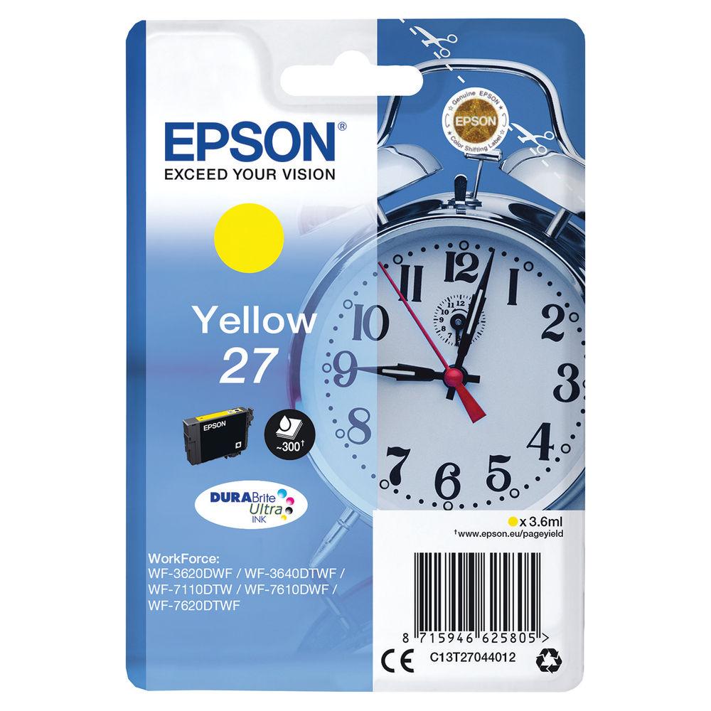 Epson 27 Yellow Inkjet Cartridge C13T27044012