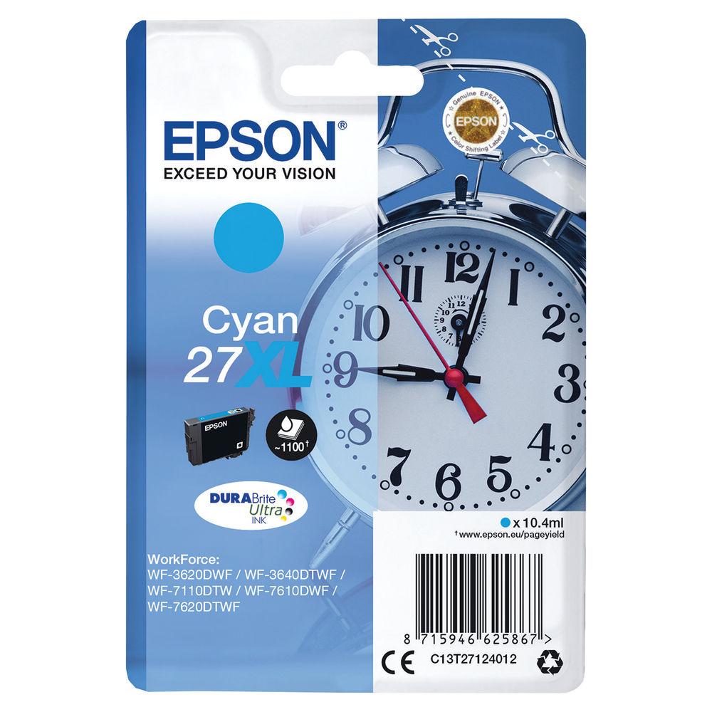 Epson 27XL Cyan Ink Cartridge - High Capacity C13T27124012