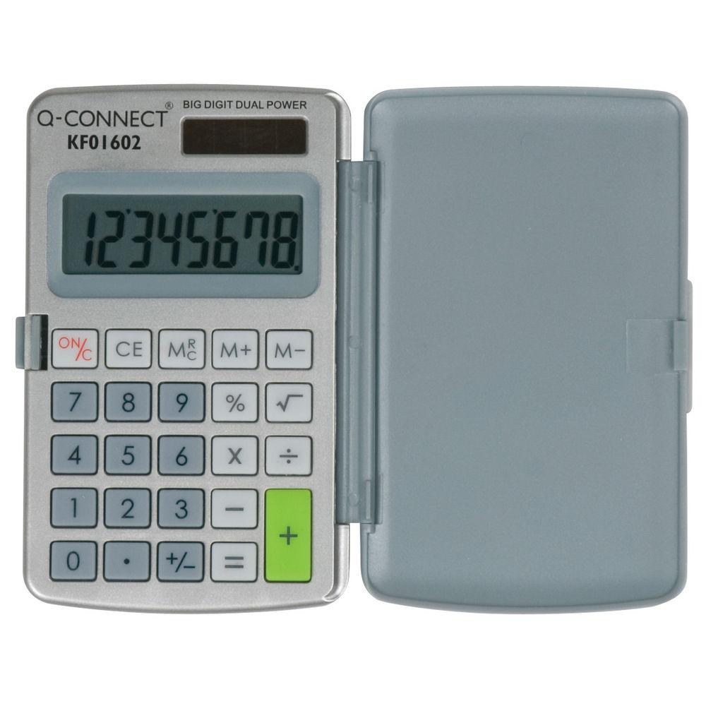 Q-Connect 8 Digit Pocket Calculator - KF01602