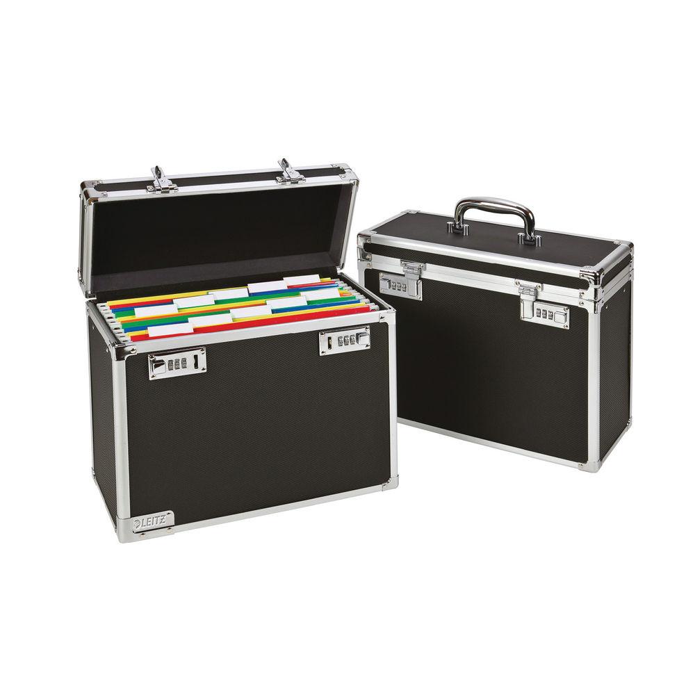 Leitz Mobile Filing Case Upto 15 File Capacity Foolscap Black 67170095