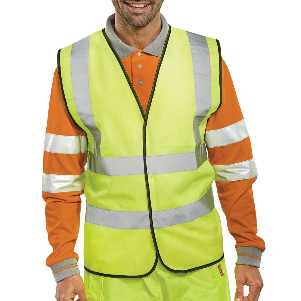 XXL Yellow Hi-Visibility Vest - WCENGXXL