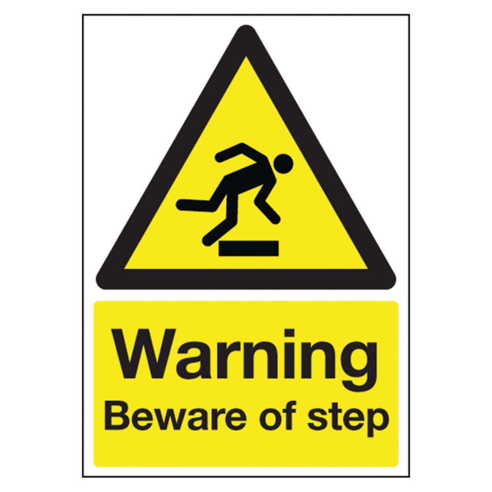 Warning A5 PVC Beware of Step Safety Sign - HA21451R