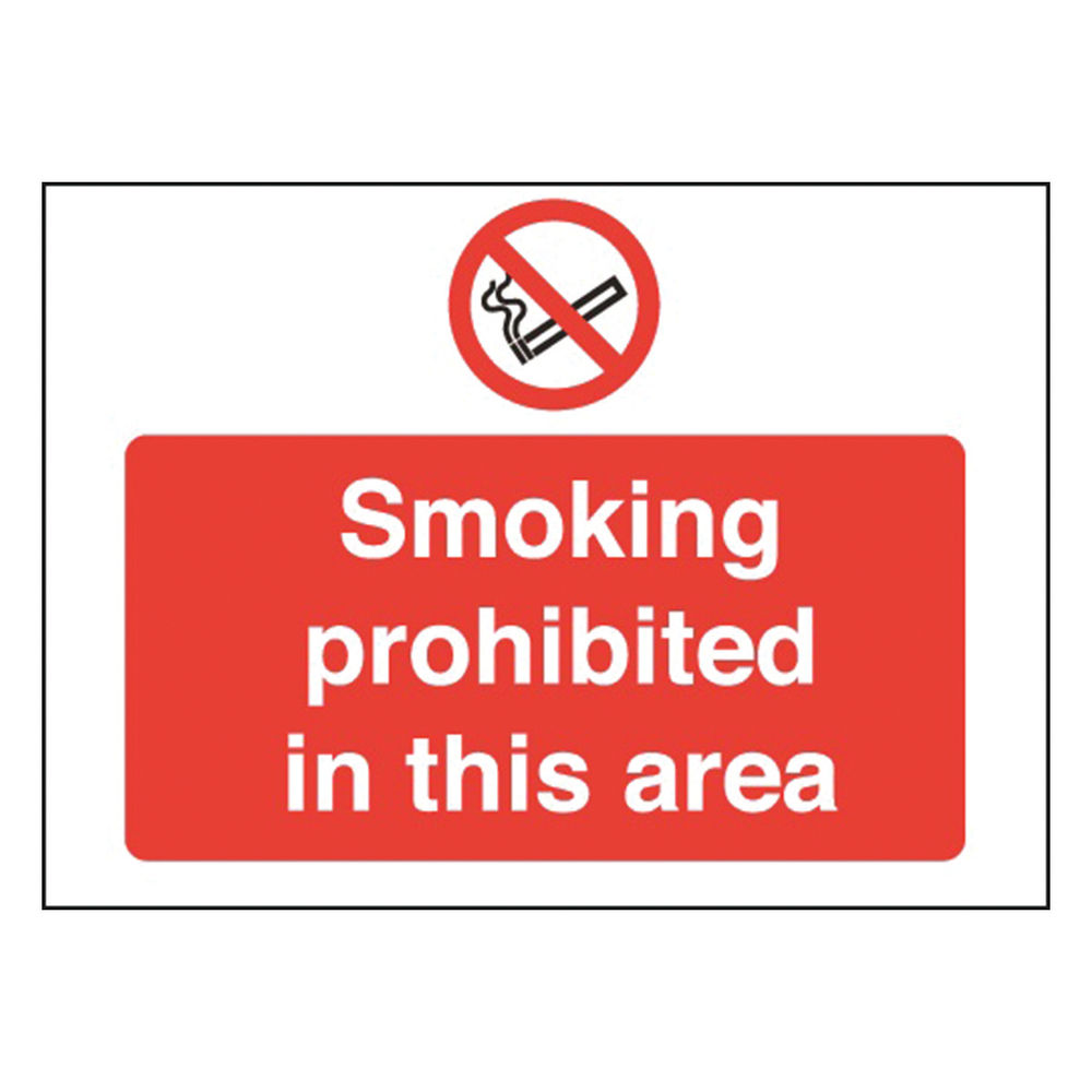 Smoking Prohibited 450 x 600mm PVC Safety Sign - P35Z/R