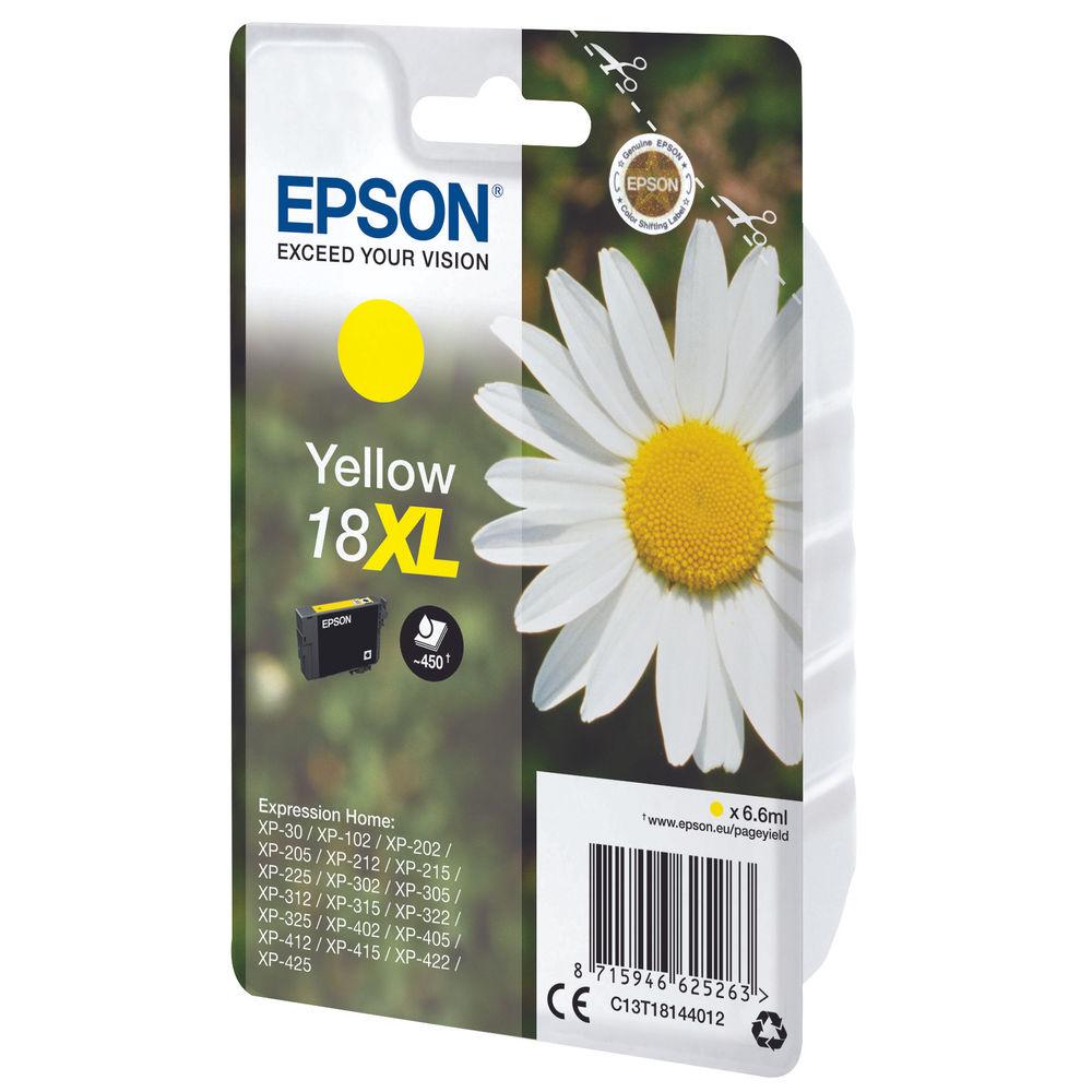 Epson 18XL Yellow Ink Cartridge - High Capacity C13T18144012