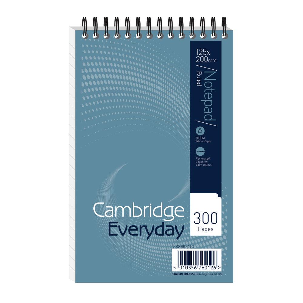 Cambridge 125 x 200mm Wirebound Notebook, Pack of 5 - JDK76012
