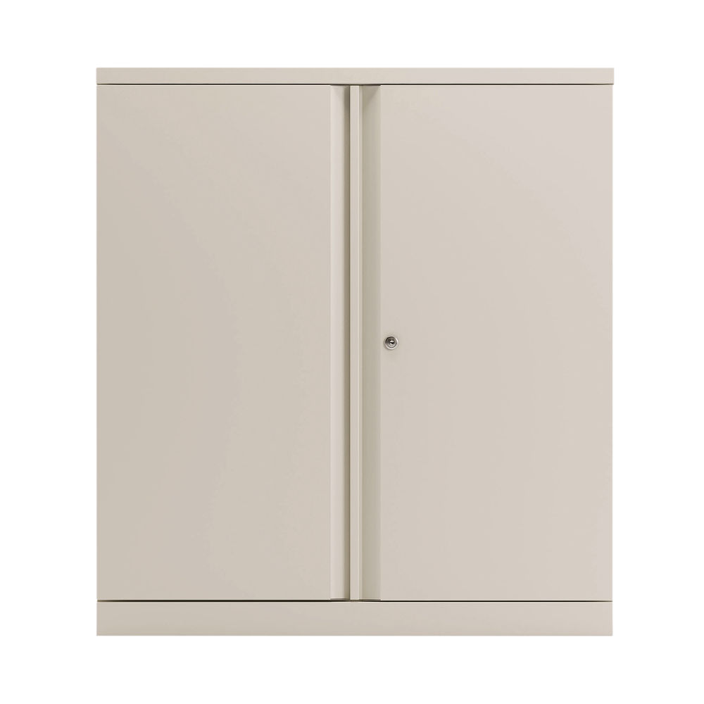 Bisley 1000mm Chalk White 2 Door Empty Cupboard - BY78710