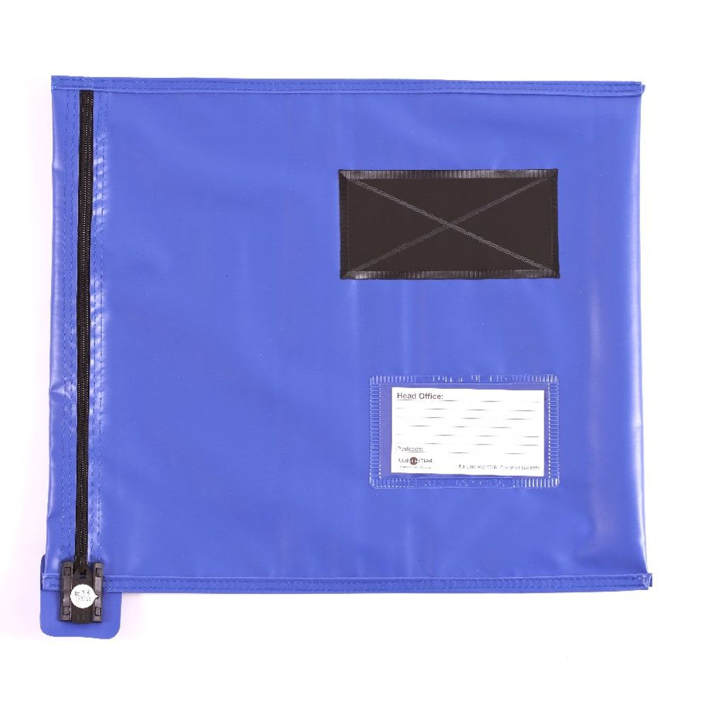 Go Secure Blue Flat Mailing Pouch 355x381mm CVF2