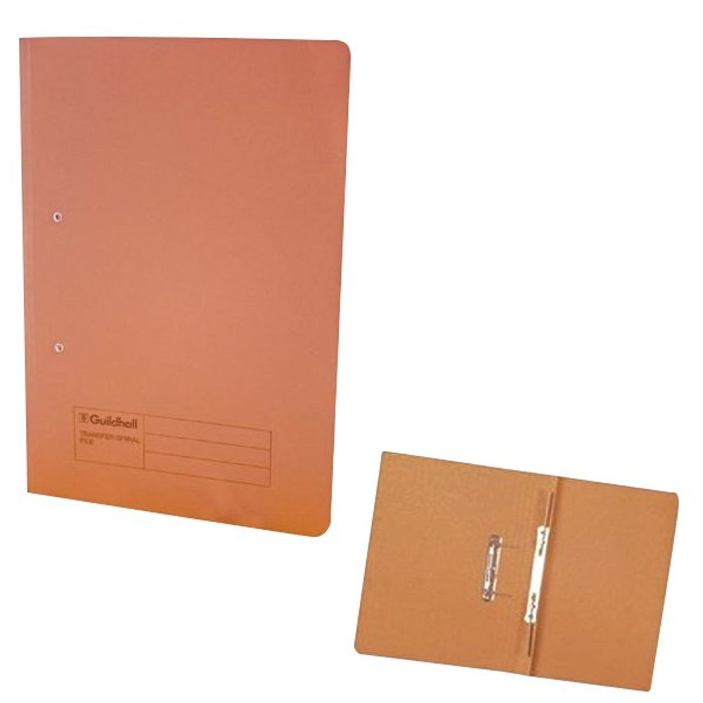 Exacompta Guildhall Transfer File 285gsm Foolscap Orange (Pack of 25) 346-ORGZ
