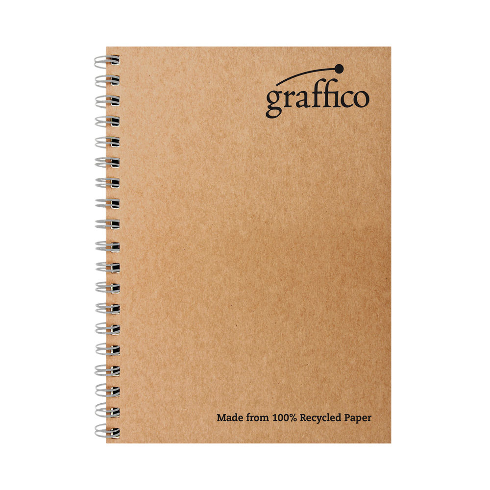 Graffico A4 Recycled Wirebound Notebooks (Pack of 10) – EN07340