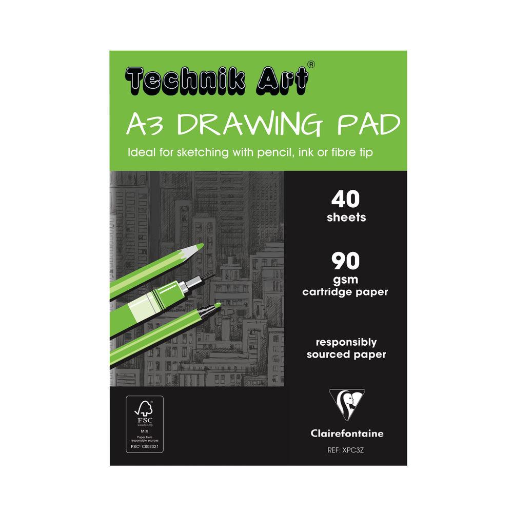 Technik Art Drawing A3 Pad, 40 Sheets - XPC3