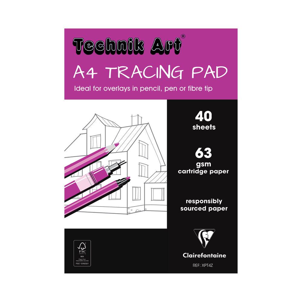 Technik Art A4 Tracing Pad, 40 Sheets - XPT4