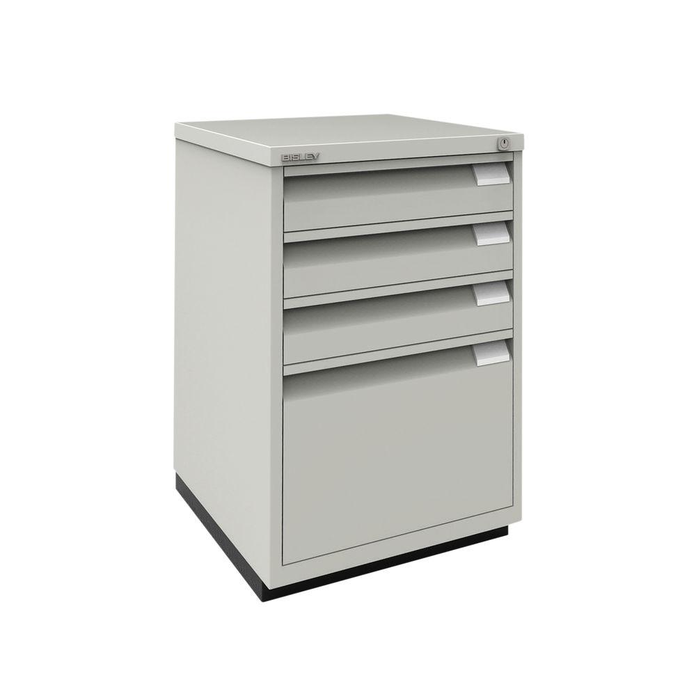 Bisley 711mm Goose Grey 4 Drawer Filing Cabinet - 1F3EGY