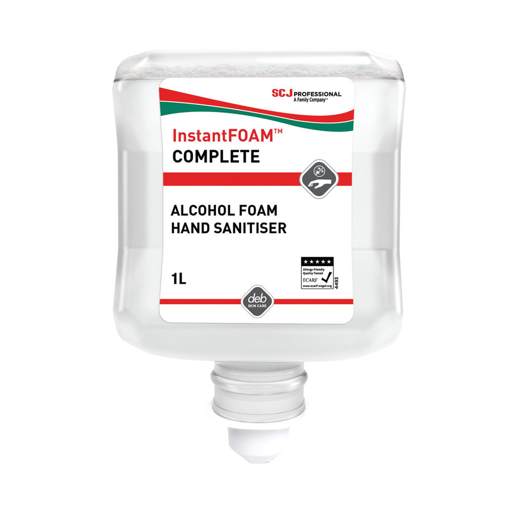 Deb InstantFOAM Complete Cartridge 1 Litre (Pack of 6) DIS1000ML