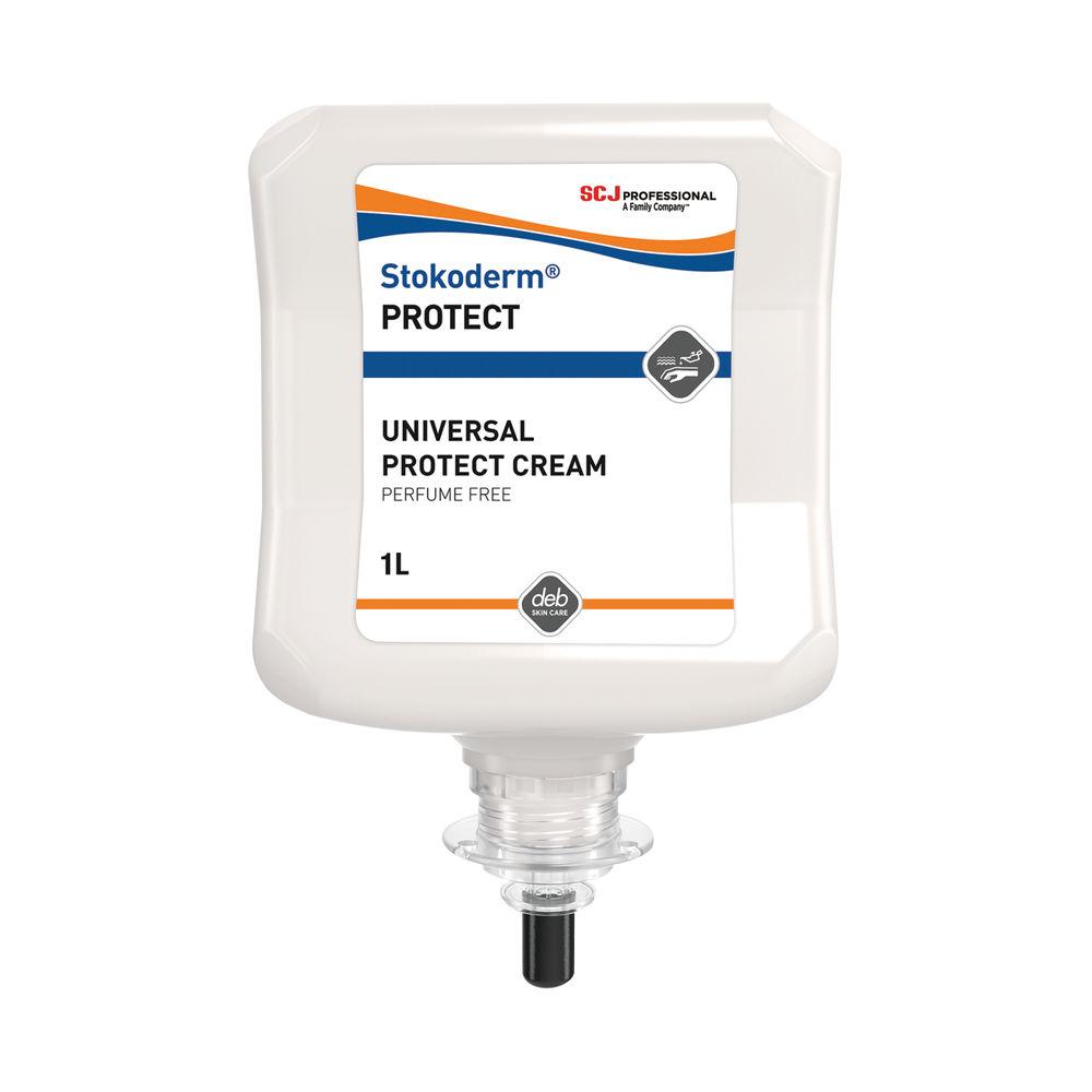 Deb 1 Litre Stokoderm Protect PURE Hand Cream - UPW1L
