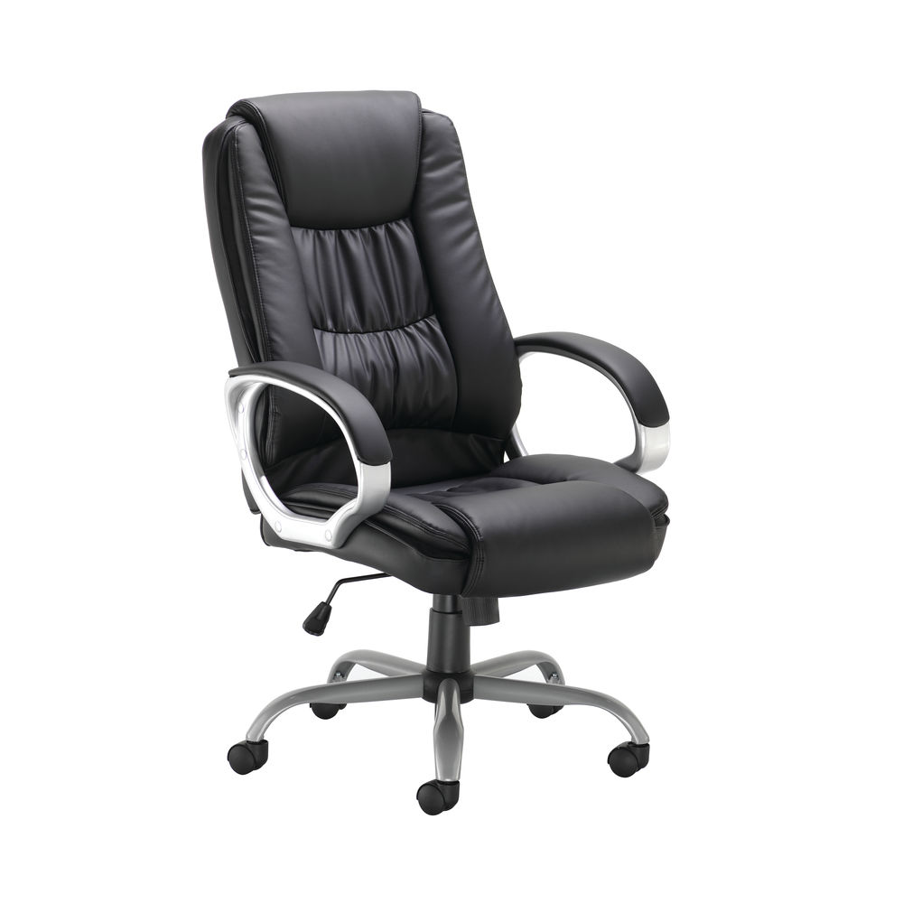 Darcy Black Executive Elite Leather Look Office Chair – 27246