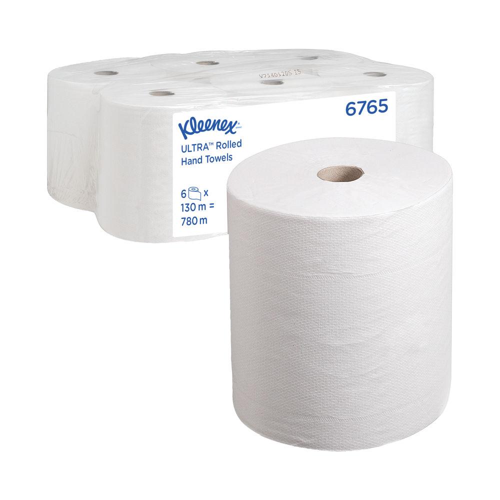Kleenex Ultra 2-Ply Hand Towel Rolls, Pack of 6 - 6765