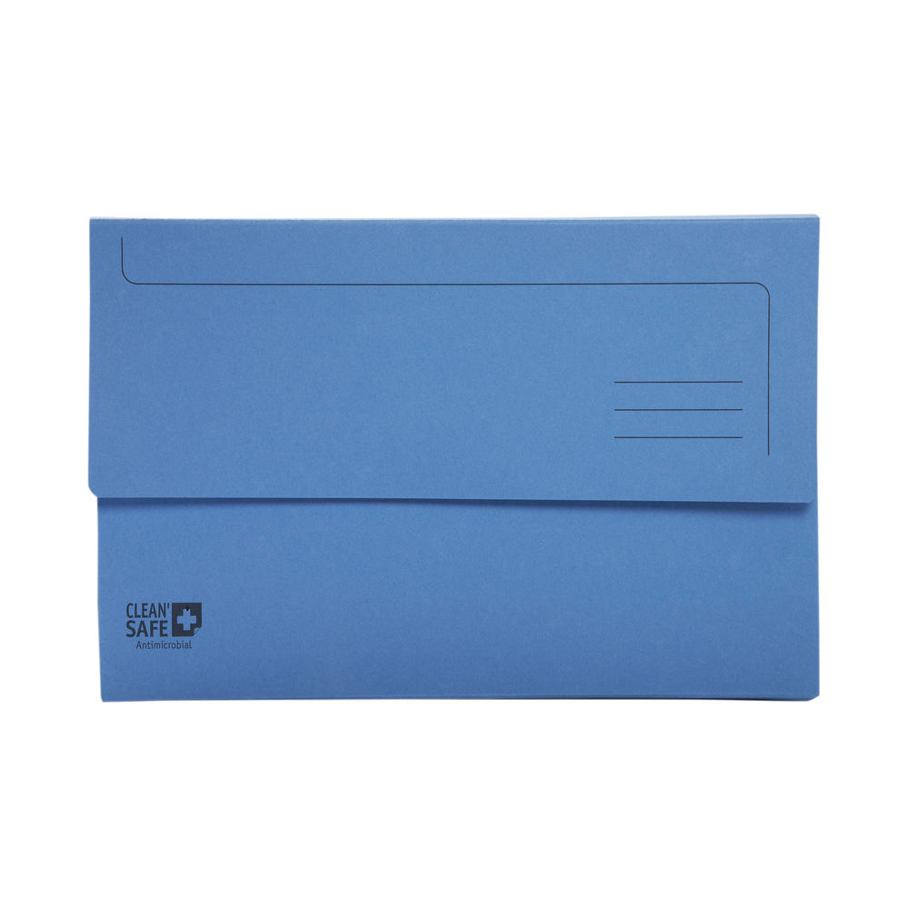 Exacompta A4 Blue Clean Safe Document Wallets (Pack of 5) - 47222E