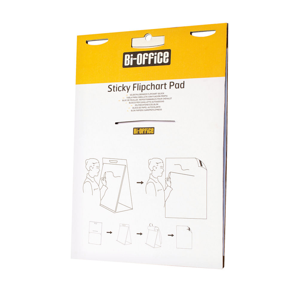 Bi-Office Self-stick Table Top A2+ Flipchart Pad - BQ55484