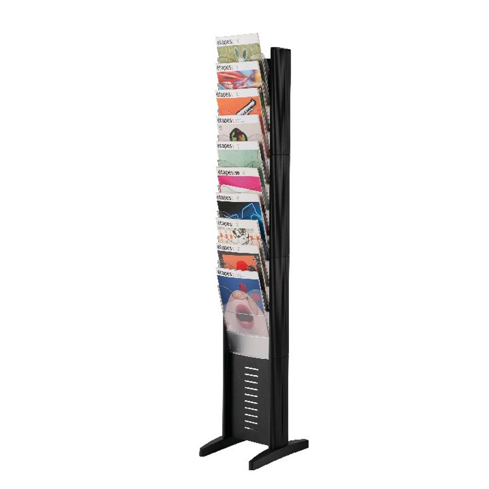 Fast Paper Black A4 10 Compartment Display with stand base (Slim design) 278.01