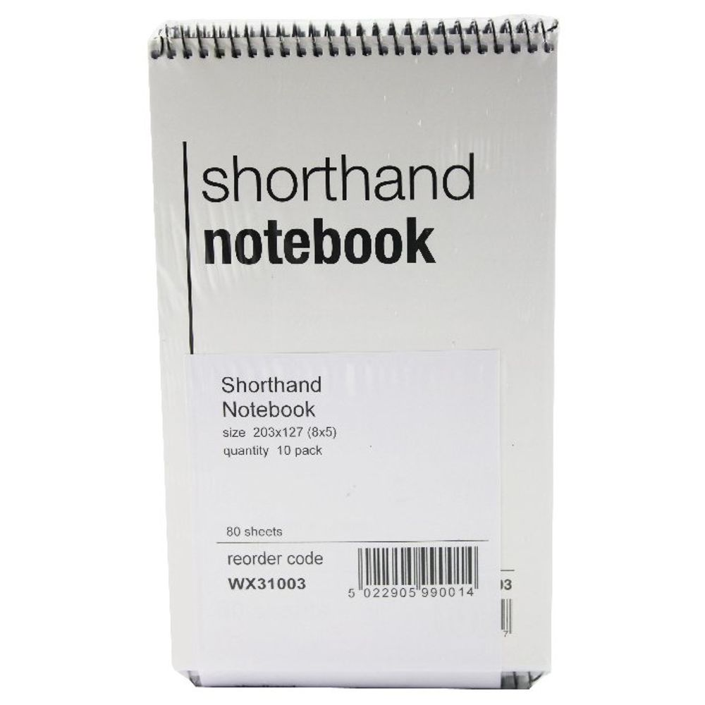 Spiral Shorthand Notebooks, Pack of 10 - WX31003