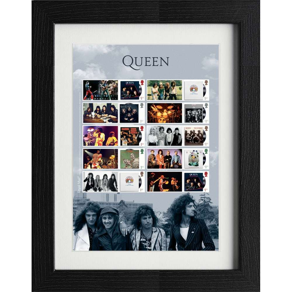 Queen Framed Album Covers Collectors Sheet