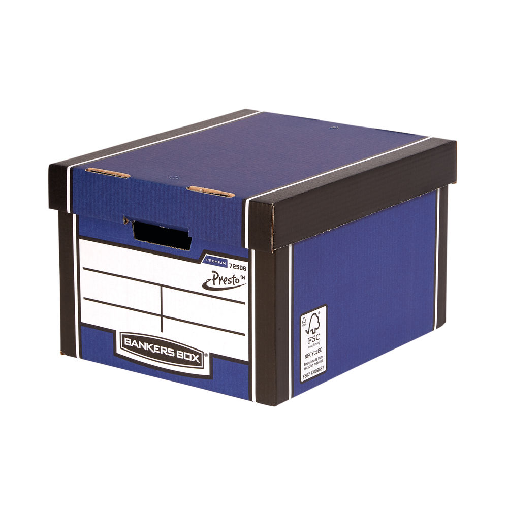 Fellowes Bankers Box Premium Classic Box Blue, Pack of 10+2 - BB57826