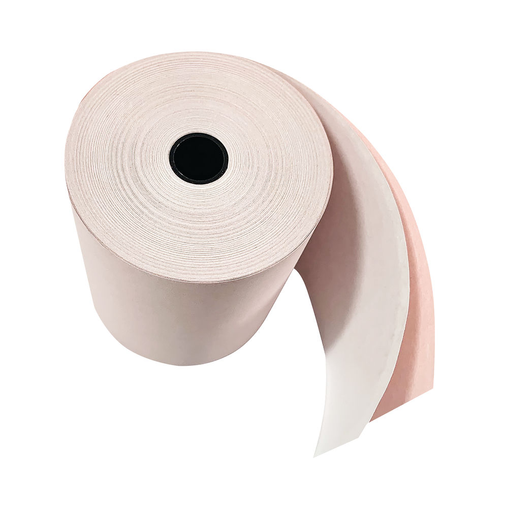 Prestige White/Pink 76mm 2-Ply Till Rolls (Pack of 20) - RE05520