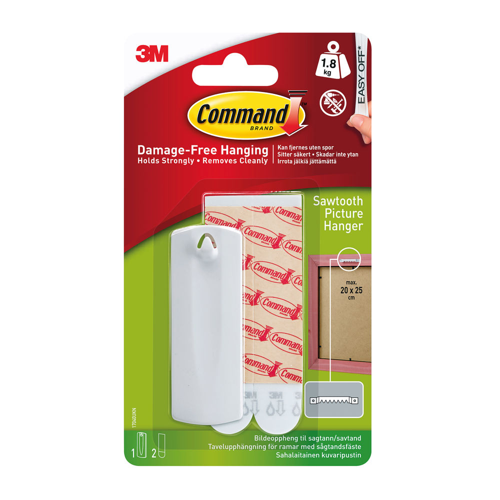 3M Command Black Sawtooth Picture Hanger 17040