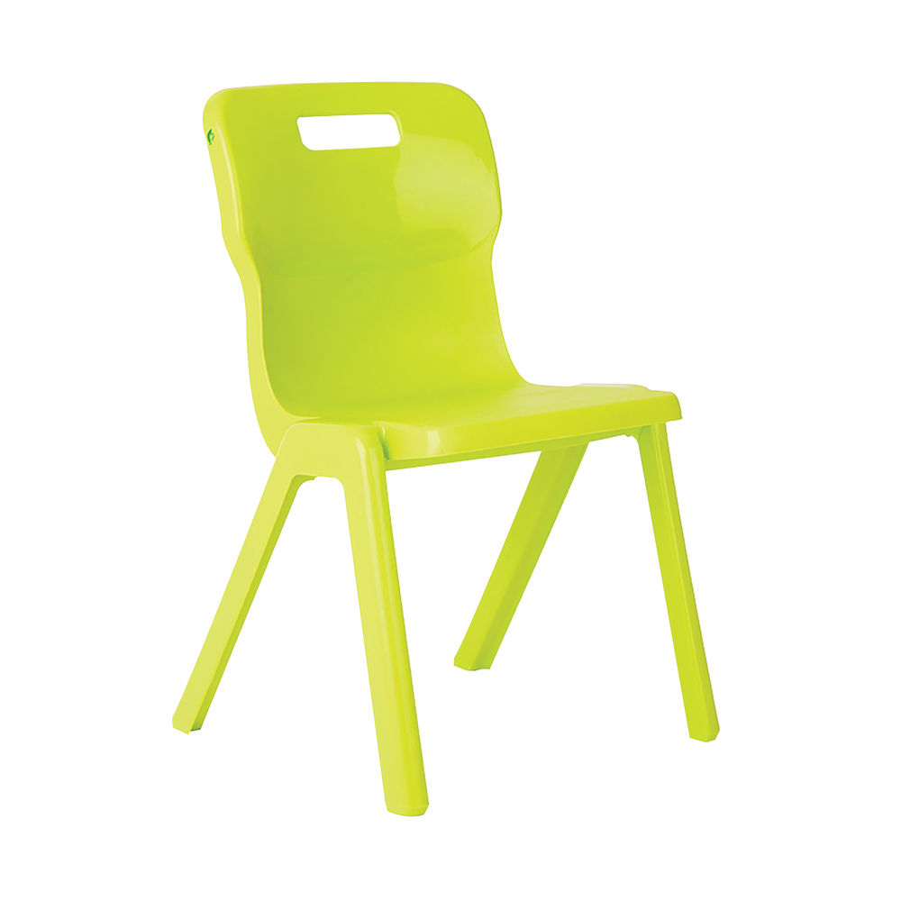 Titan 430mm Lime One Piece Chairs, Pack of 30