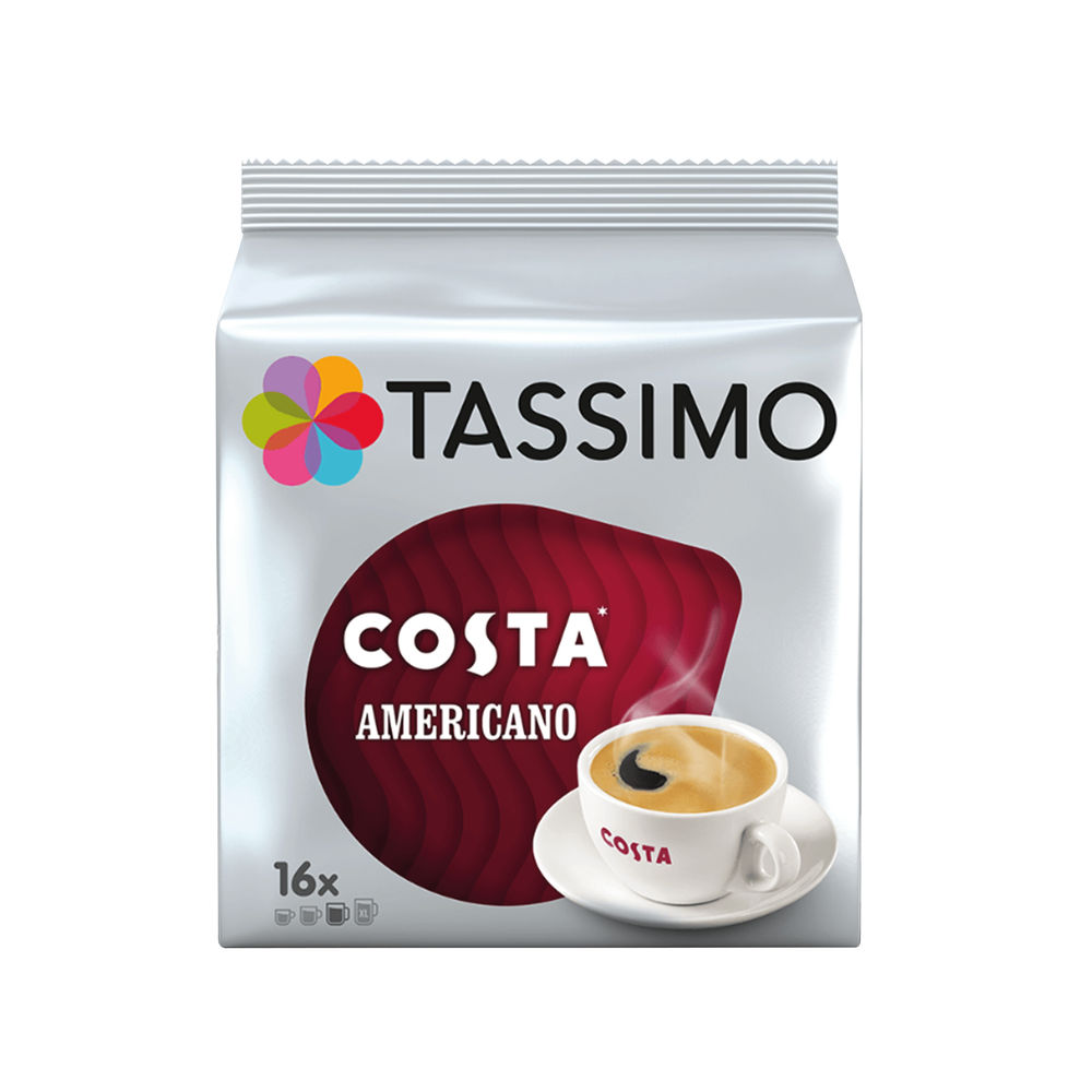 Tassimo Costa Americano Coffee Capsules, Pack of 80 - 973566