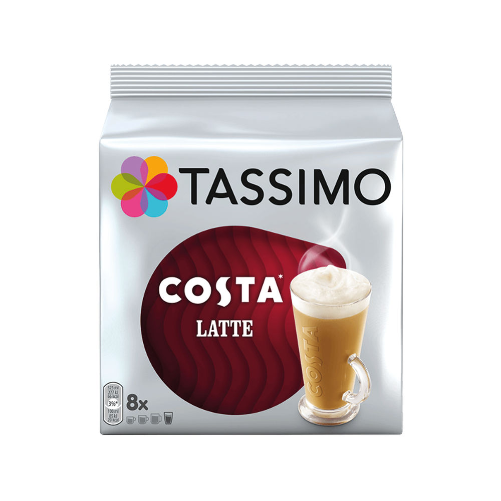 Tassimo Costa Latte Coffee 239.2g Capsules (5 Packs of 8) 4051474