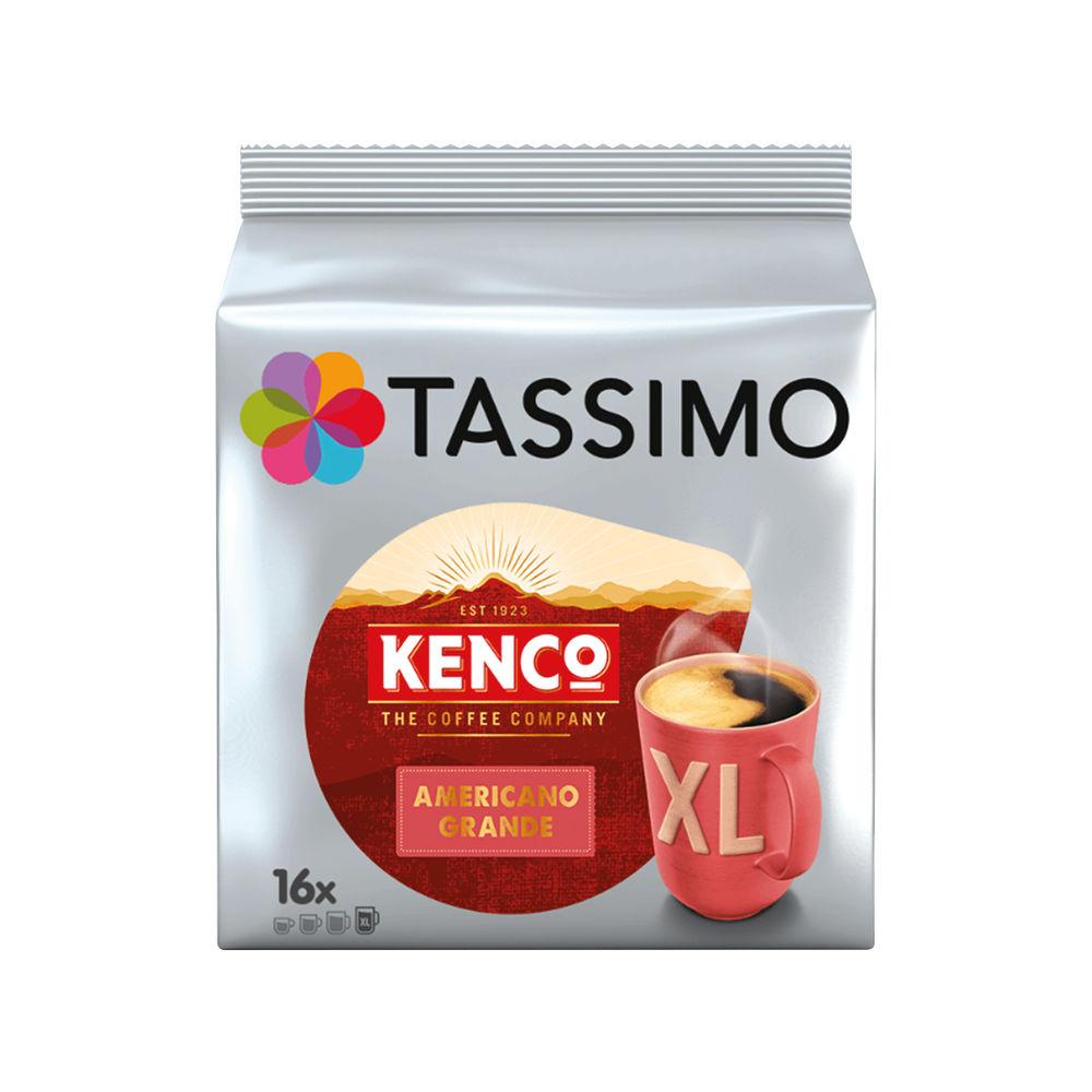 Tassimo Kenco Americano Grande Coffee 144g Capsules (5 Packs of 16) 7040471