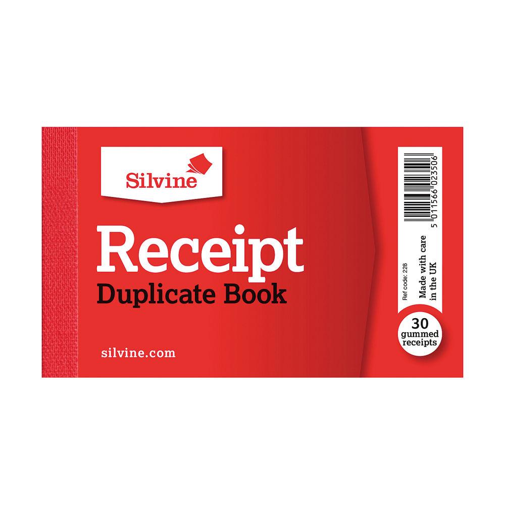 Silvine Carbon Cash Receipt Duplicate Book (Pack of 36) - 228