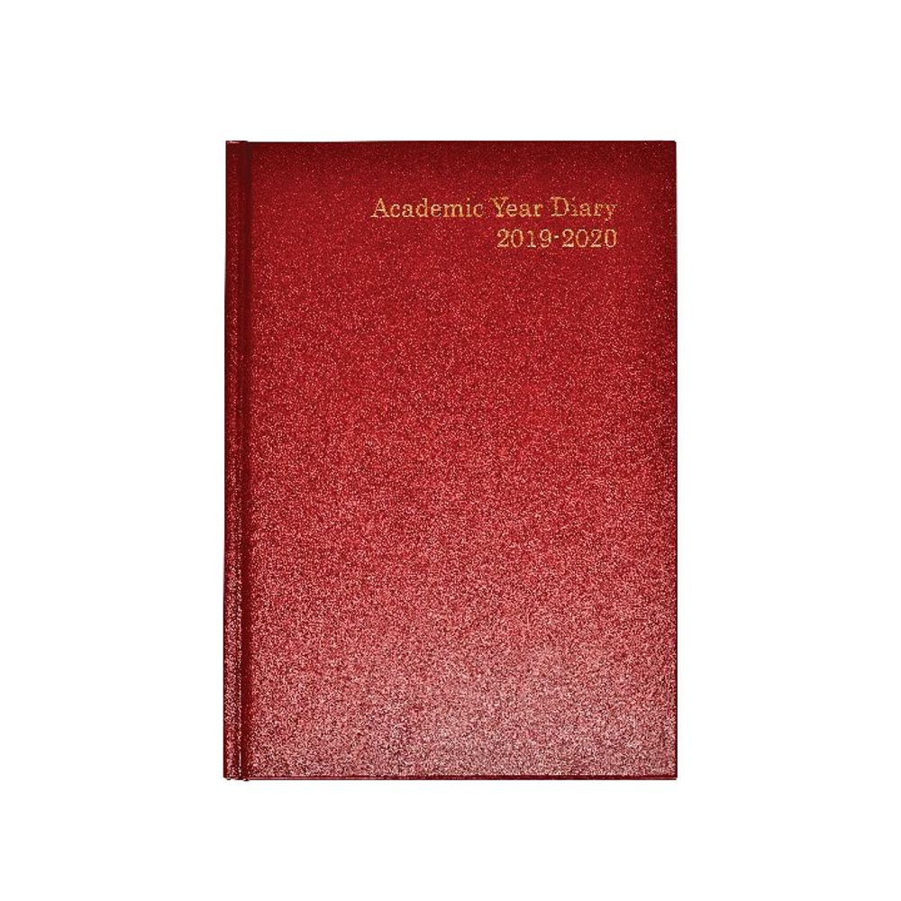 Burgundy A5 Week to View 2019-20 Academic Diary - KF3A5ABG19